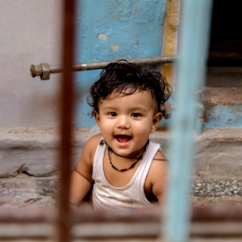 Toothless and Innocent smile by Rajesh Kumar Gupta - Babies & Children Toddlers ( child, laugh, baby, smile, toddler )