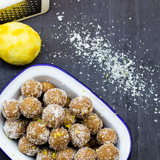 Lemon, Macadamia and Coconut Bliss Balls {Dairy Free, Egg Free, Gluten Free, Raw, Vegan}