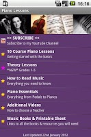 Screenshot of Piano Lesson Tutor