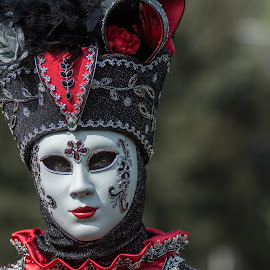 Venetian mask II by Jean-Marc Schneider - People Musicians & Entertainers