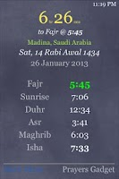 Screenshot of Prayers Gadget (Prayer Times)