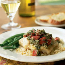 Broiled Red Snapper with Sicilian Tomato Pesto