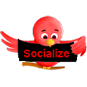 Red Socialize for Twitter icon