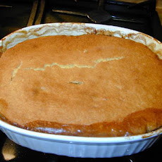 Herbed Hamburger Pie With a Cornbread Crust