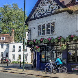 Pub by Vibeke Friis - City,  Street & Park  Neighborhoods ( london, bikes, pub,  )