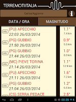 Screenshot of Mappa terremoti Italia