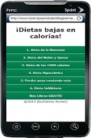 Screenshot of Dietas Bajas en Calorias