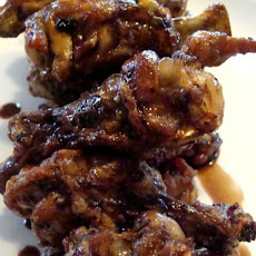 Balsamic Soy Glazed Chicken Wings