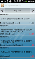 Screenshot of Foothill FCU Mobile