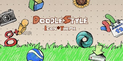 Screenshot of Doodle Style Theme