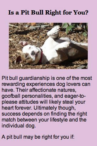 Our Pack's Pit Bull App