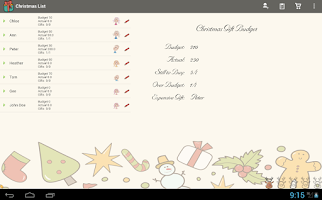Screenshot of Christmas List Snowball