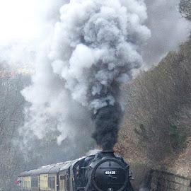 Full Steam Ahead by Dez Green - Transportation Trains ( steam train, railroad, railways, smoke, trains, steam,  )