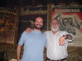 Manolo Chinato y yo, haciendo el gilipollas