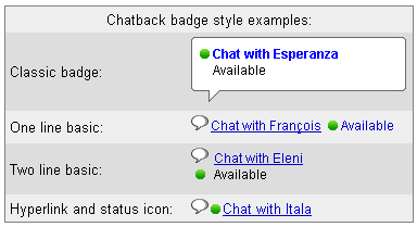 ChatBack Options