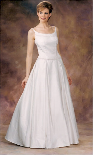 ivory silk satin wedding dresses