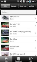 Screenshot of 1000 Automobile aus aller Welt