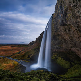 between Summer and Fall by Daniel Herr - Landscapes Waterscapes ( thorsmörk, icelandic, southern highlands, iceland, seljalandsfoss, nature, eyjafallajökull, fall, waterfall, landscape )