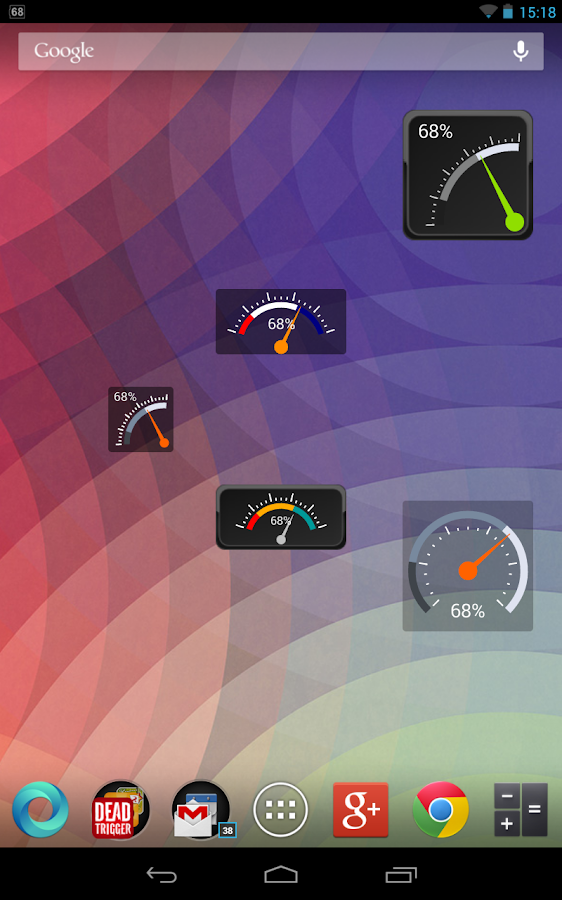 Gauge Battery Widget 2016 Screenshot 8