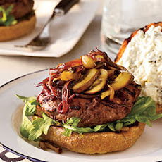 Cabernet-Balsamic Burgers with Sautéed Mushrooms & Onions