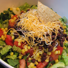 Southwestern Salad With Avocado Lime Dressing