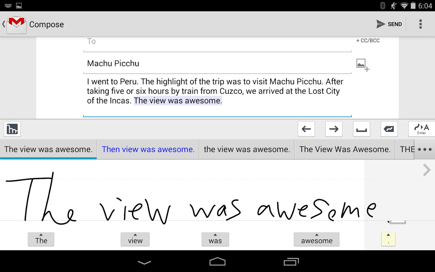 mazec3 Handwriting Recognition Screenshot 1