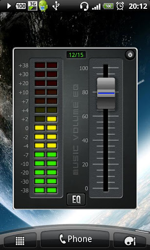 music-volume-eq for android screenshot