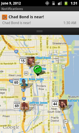 guibber - GPS location sharing