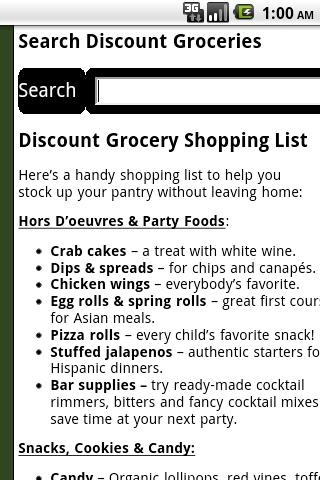 Discount Grocery Store