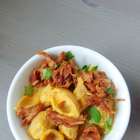BBQ Jackfruit Sweet Potato Mac