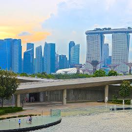Singapore Marine Barrage by Rudhi Alfian - City,  Street & Park  City Parks ( building, marine barrage, town, big city, singapore, city )