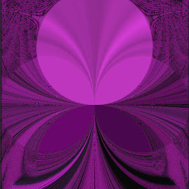 Pink Satin Circle by Yvonne Collins - Digital Art Abstract ( edited, abstract, digital art, photography, lucious lady pink )