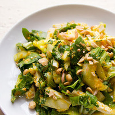 Bok Choy and Tofu Salad with Carrot-Ginger Dressing