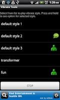 Screenshot of Vibrate tools