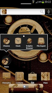 ADW Theme Cyanogen Wood - screenshot