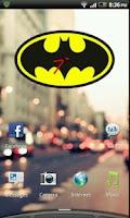 Screenshot of Batman Clock Widget