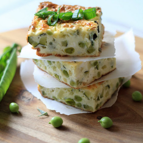 Zucchini Terrine with Peas and Philadelphia Cream Cheese
