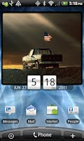 Screenshot of American Flag Clock Widget Pro