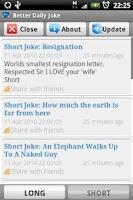 Screenshot of Joke: Better Daily Joke