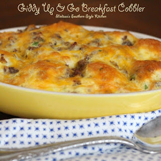 Giddy Up & Go Breakfast Cobbler