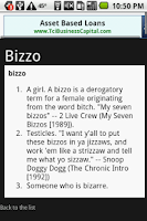 Screenshot of Rap Dictionary