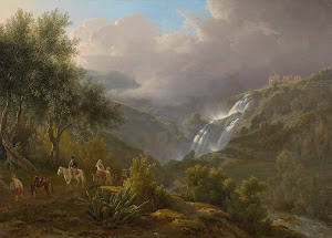 RIJKS: Abraham Teerlink: The Cascades at Tivoli, with a Storm Approaching 1824