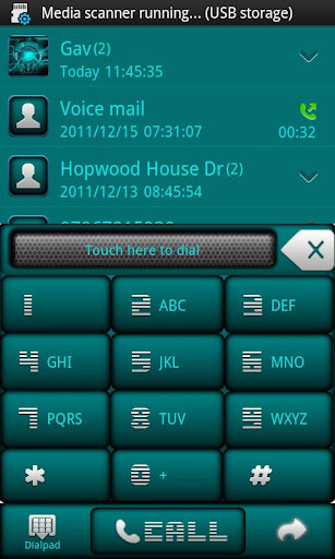 Droid Tech Go Contacts Theme