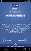 Screenshot of Business Cards Info (BCi)