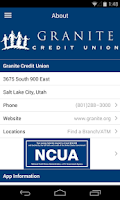 Screenshot of Granite CU Mobile Banking