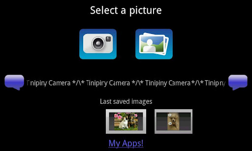 Tinipiny Camera text bubbles