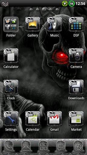 Horror Skull GO Launcher Theme