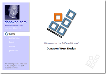 donavon.com from 2004