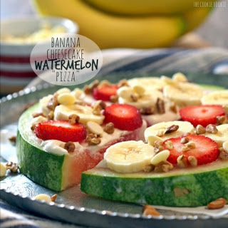 "Banana Cheesecake Watermelon ""Pizza"""