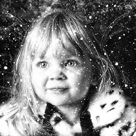wonderland by Kathleen Devai - Babies & Children Child Portraits ( snow coat hair eyes portrait )